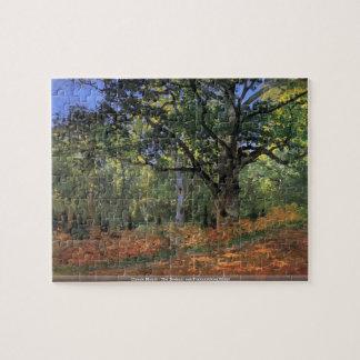 Claude Monet - The Bodmer oak Fontainbleau forest Puzzle