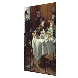 Claude Monet | The Breakfast Canvas Print