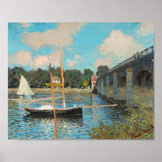 Claude Monet The Bridge At Argenteuil Fine Art Print