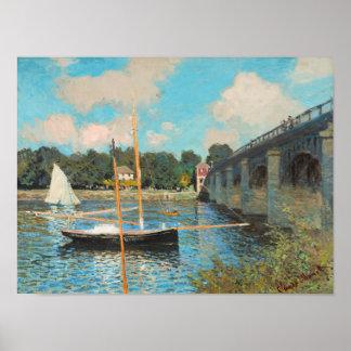 Claude Monet The Bridge At Argenteuil Print