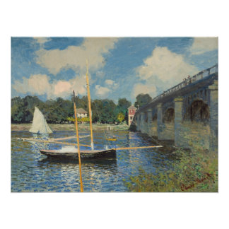 Claude Monet | The Bridge at Argenteuil Poster