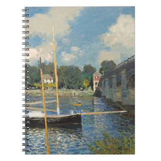 Claude Monet | The Bridge at Argenteuil Spiral Notebook
