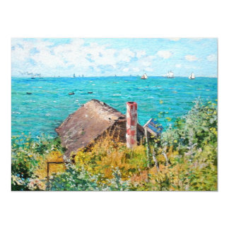 Claude Monet The Cabin At Saint-Adresse Fine Art Card