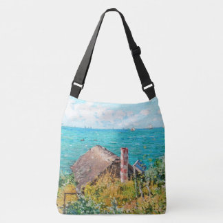 Claude Monet The Cabin At Saint-Adresse Fine Art Crossbody Bag