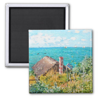 Claude Monet The Cabin At Saint-Adresse Fine Art Magnet