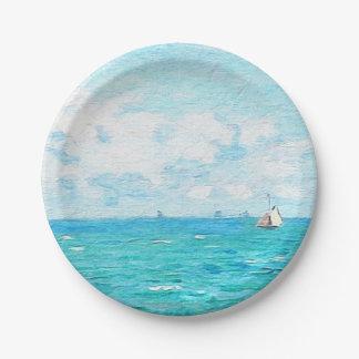 Claude Monet The Cabin At Saint-Adresse Fine Art Paper Plate