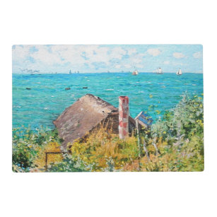 Claude Monet The Cabin At Saint Adresse Fine Art Placemat