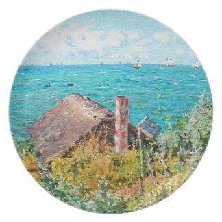 Claude Monet The Cabin At Saint-Adresse Fine Art Plate