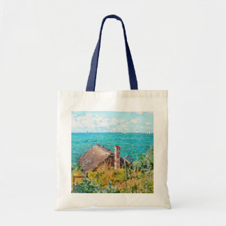 Claude Monet The Cabin At Saint-Adresse Fine Art Tote Bag