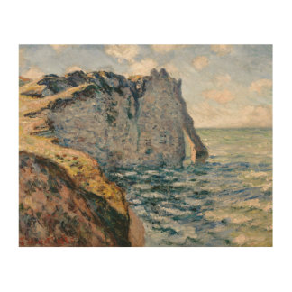 Claude Monet - The Cliff of Aval, Etrétat Wood Wall Art