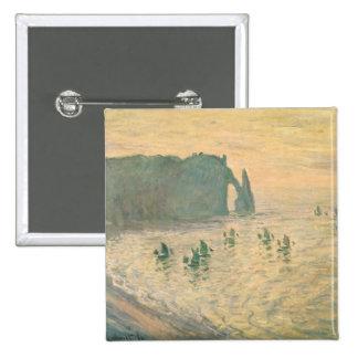 Claude Monet | The Cliffs at Etretat, 1886 Pinback Button