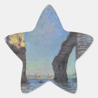 Claude Monet The Cliffs at Etretat Destiny Gifts Star Sticker