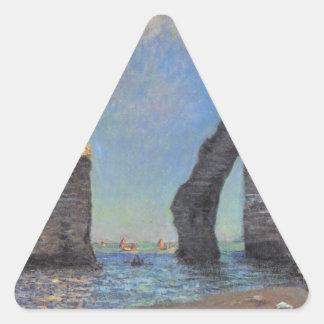 Claude Monet The Cliffs at Etretat Destiny Gifts Triangle Sticker