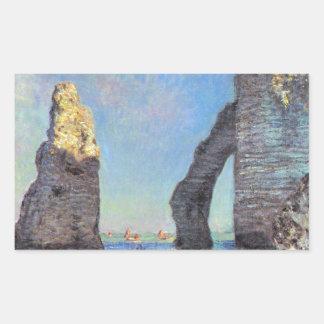 Claude Monet // The Cliffs at Etretat Rectangular Sticker