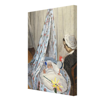 Claude Monet | The Cradle, Camille with Son Jean Canvas Print