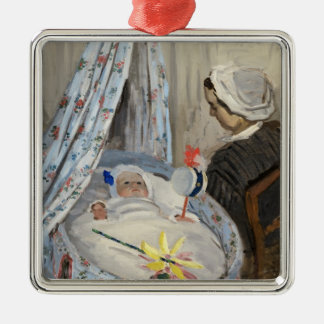 Claude Monet | The Cradle, Camille with Son Jean Metal Ornament