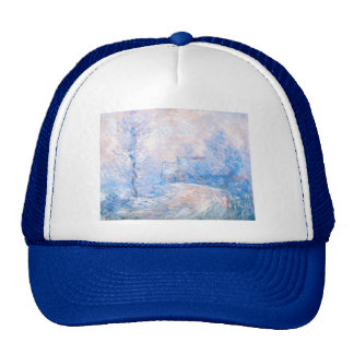 Claude Monet: The Entrance to Giverny under Snow Trucker Hat