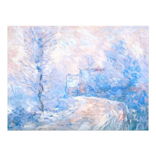 Claude Monet: The Entrance to Giverny under Snow Personalized Invites