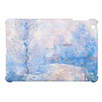 Claude Monet: The Entrance to Giverny under Snow