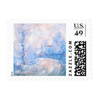 Claude Monet: The Entrance to Giverny under Snow Postage