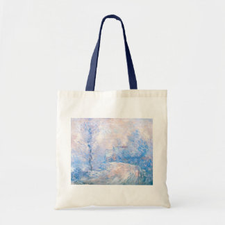 Claude Monet: The Entrance to Giverny under Snow Tote Bag
