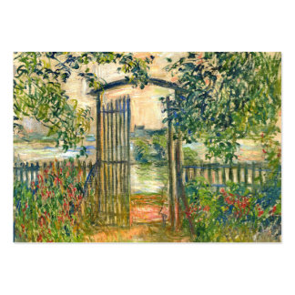 Claude Monet: The Garden Gate at Vetheuil Large Business Cards (Pack Of 100)