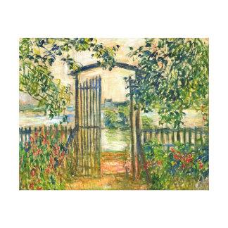 Claude Monet: The Garden Gate at Vetheuil Canvas Print