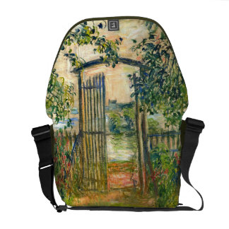 Claude Monet: The Garden Gate at Vetheuil Messenger Bag