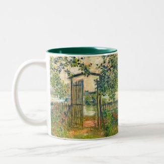 Claude Monet: The Garden Gate at Vetheuil Coffee Mugs