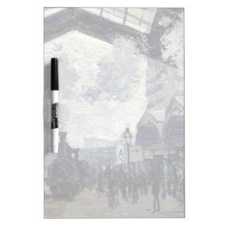 CLAUDE MONET - The Gare St-Lazare 1877 Dry-Erase Board