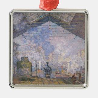Claude Monet | The Gare St. Lazare, 1877 Metal Ornament