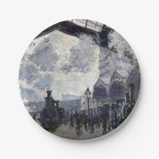 CLAUDE MONET - The Gare St-Lazare 1877 Paper Plate