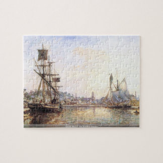 Claude Monet - The Honfleur Sea port Jigsaw Puzzle