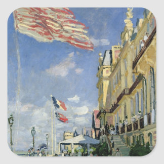 Claude Monet | The Hotel des Roches Noires Square Sticker