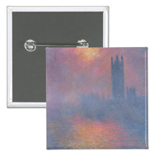 Claude Monet | The Houses of Parliament, London Pinback Button