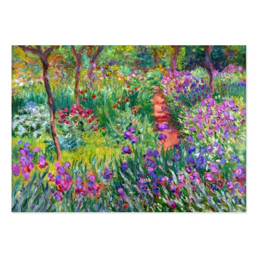 Claude Monet: The Iris Garden at Giverny Large Business Cards (Pack Of 100)