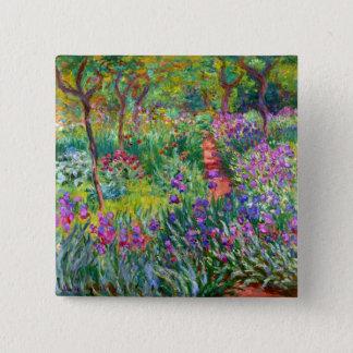 Claude Monet: The Iris Garden at Giverny Button