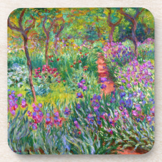 Claude Monet: The Iris Garden at Giverny Beverage Coasters