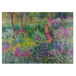 Claude Monet: The Iris Garden at Giverny Cutting Board