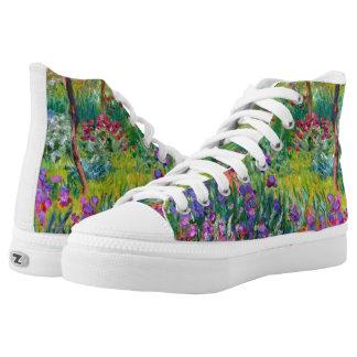 Claude Monet: The Iris Garden at Giverny High-Top Sneakers