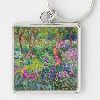 Claude Monet: The Iris Garden at Giverny Keychain
