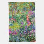 Claude Monet: The Iris Garden at Giverny Kitchen Towel