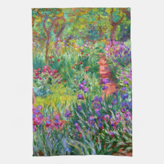 Claude Monet: The Iris Garden at Giverny Kitchen Towel