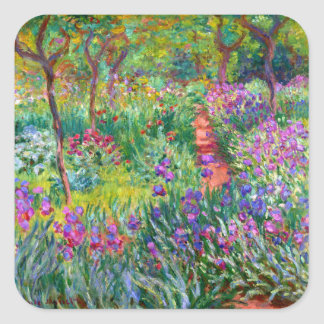 Claude Monet: The Iris Garden at Giverny Square Sticker