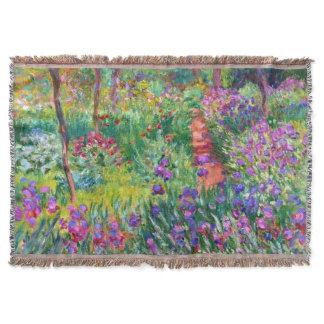 Claude Monet: The Iris Garden at Giverny Throw