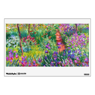 Claude Monet: The Iris Garden at Giverny Wall Decal