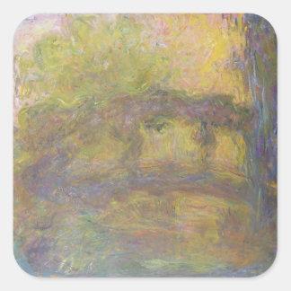 Claude Monet | The Japanese Bridge, 1918-24 Square Sticker