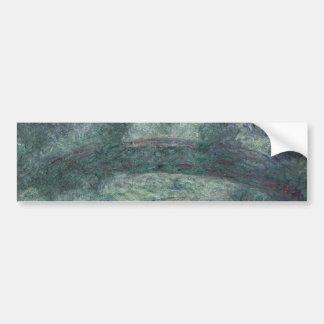Claude Monet - The Japanese bridge Car Bumper Sticker
