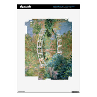 Claude Monet | The Japanese Bridge, Giverny Skins For iPad 3