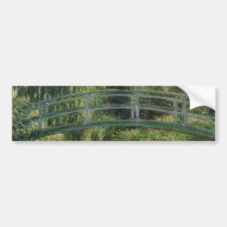 Claude Monet - The Japanese Footbridge Bumper Sticker